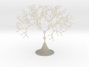 Nodal Fractal Tree in White Acrylic