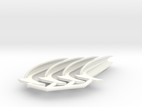 2500 fully open no field wing set in White Strong & Flexible Polished