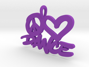 32 – PLDANCE - HAND-WRITTEN in Purple Processed Versatile Plastic: Small