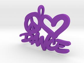 32 – PLDANCE - HAND-WRITTEN in Purple Processed Versatile Plastic: Small