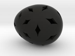 Mosaic Egg #11 in Black Premium Versatile Plastic