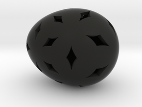 Mosaic Egg #11 in Black Premium Strong & Flexible