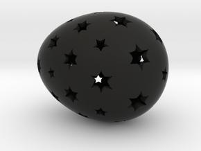 Mosaic Egg #14 in Black Premium Strong & Flexible