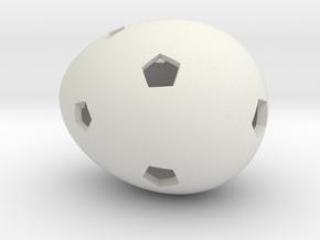 Mosaic Egg #16 in White Premium Versatile Plastic