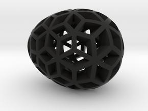 Mosaic Egg #10 in Black Premium Versatile Plastic