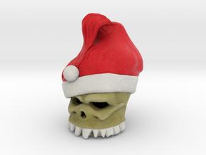 Santa Skull in Full Color Sandstone