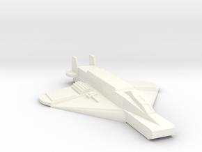 Crow Fighter in White Processed Versatile Plastic