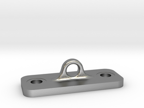 Single Loop Plate in Natural Silver