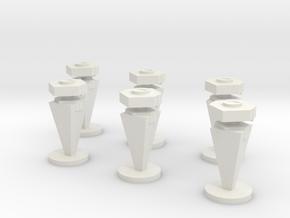 3D Mine Tokens - Mine Type C in White Natural Versatile Plastic