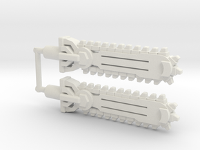 Pharma-Saw Weapon in White Natural Versatile Plastic: Large