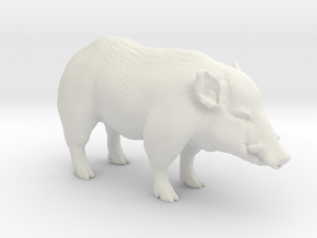 Printle Thing Wildboar - 1/48 in White Natural Versatile Plastic