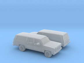 1/160 2X  1973-79 Chevrolet Suburban in Smooth Fine Detail Plastic