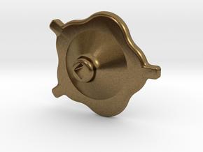 "South African Railways Small Valve Handwheel 2.5""  in Natural Bronze"