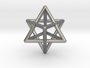 Merkaba pendant - extra small in Natural Silver