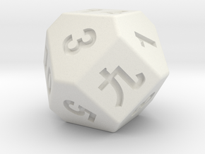 14 faces dice in White Premium Strong & Flexible