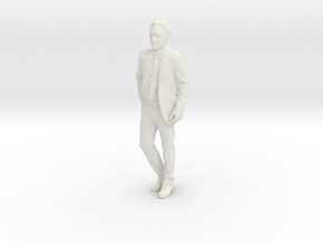 Printle F Georges Brassens - 1/18 - wob in White Natural Versatile Plastic