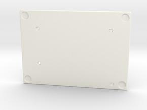 Let's Split Keyboard Case - Right Bottom in White Processed Versatile Plastic