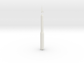Lockheed Boost Glide Vehicle (BGV) & Minuteman III in White Natural Versatile Plastic: 6mm