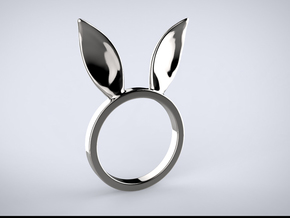Bunny Ears Ring in Polished Silver