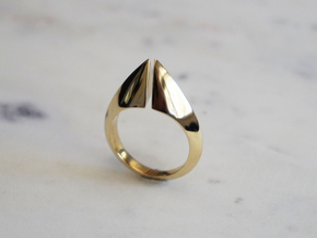 Torc Ring II in Polished Brass: 6 / 51.5