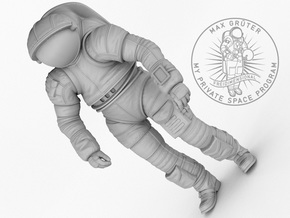 Mark III Mars Experimental Spacesuit  1:12 in White Strong & Flexible
