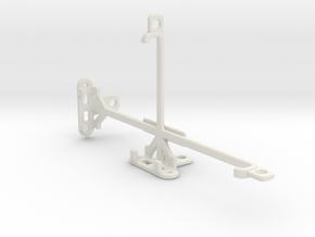 Google Pixel 2 XL tripod & stabilizer mount in White Natural Versatile Plastic