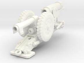 28mm Heavy Cannon  in White Processed Versatile Plastic