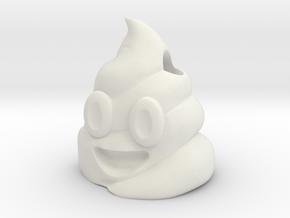 keychain_poop in White Natural Versatile Plastic