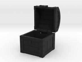 MTG Treasure Chest Token (16 mm dice chest) in Black Premium Versatile Plastic