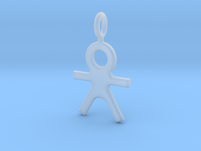 Human Pendant in Smooth Fine Detail Plastic