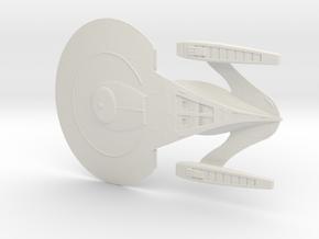 Andromeda Class Cruiser in White Natural Versatile Plastic