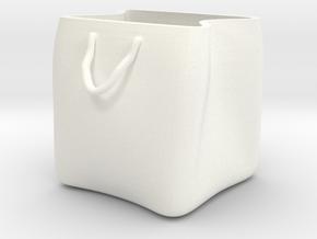 Shopping bag plant pot in White Processed Versatile Plastic