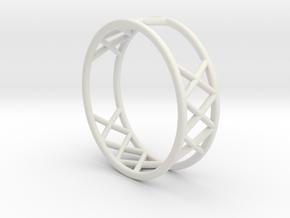 XXX Ring Size  [ 13 ] in White Natural Versatile Plastic