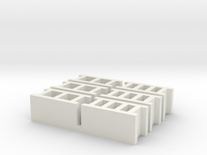Cinder Blocks in White Natural Versatile Plastic