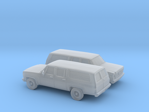 1/160 2X 1973-79 Chevrolet Suburban Split Rear Doo in Frosted Ultra Detail