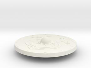 Miniature Burning Shield of Outland Ravager - Dota in White Natural Versatile Plastic: 1:12