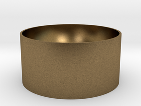 Coin Cup in Natural Bronze