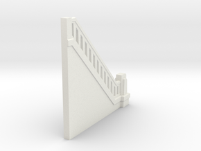 Triple Underpass SW Wing End in White Natural Versatile Plastic