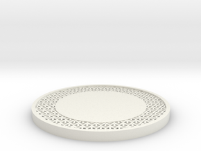 Lattice Drink Coaster Star Pattern in White Natural Versatile Plastic