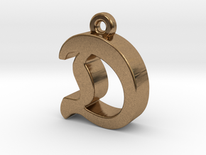 D2 - Pendant - 3mm thk. in Natural Brass