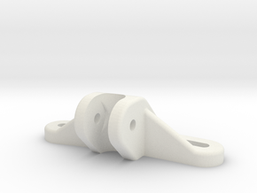 Panhard Chassis Mount - Flat in White Premium Strong & Flexible
