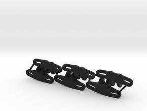 Panhard Chassis Mount - Flat (Qty 6) in Black Premium Versatile Plastic