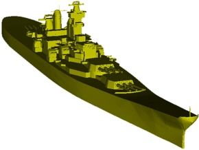 1/3000 scale USS Iowa BB-61 battleship x 1 in Smooth Fine Detail Plastic