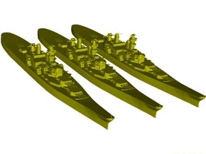 1/3000 scale USS Iowa BB-61 battleships x 3 in Smooth Fine Detail Plastic