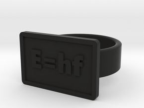 Energy of a Photon Ring in Black Natural Versatile Plastic: 8 / 56.75