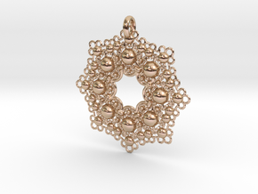 STcF Pendant in 14k Rose Gold Plated Brass