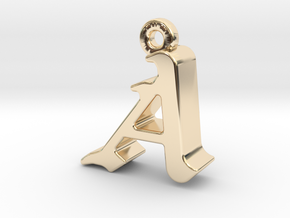 A2- Pendant - 3mm thk. in 14K Yellow Gold