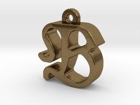 B2 - Pendant 3mm thk. in Natural Bronze