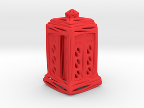 Voronoi Tardis in Red Processed Versatile Plastic