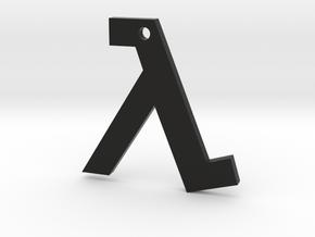 Half Life pendant in Black Premium Strong & Flexible
